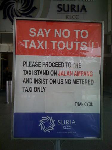 Taxi touts suk