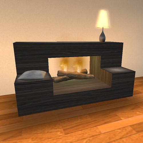 Living room set fireplace