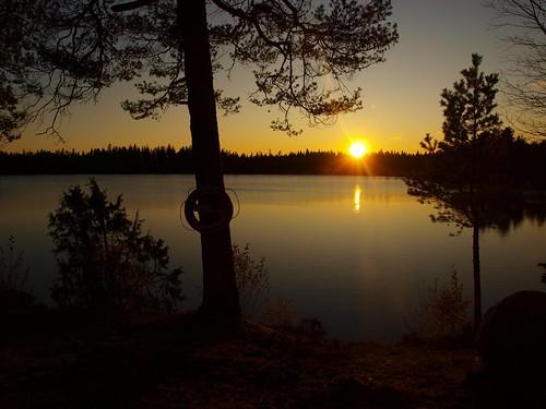 sunset lake landscape olympus solnedgång landskap sjö potofgold fritsla e520 olympuse520 100commentgroup peternyhlén furusjön