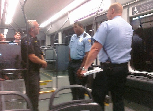 Phoenix PD checking light rail tickets
