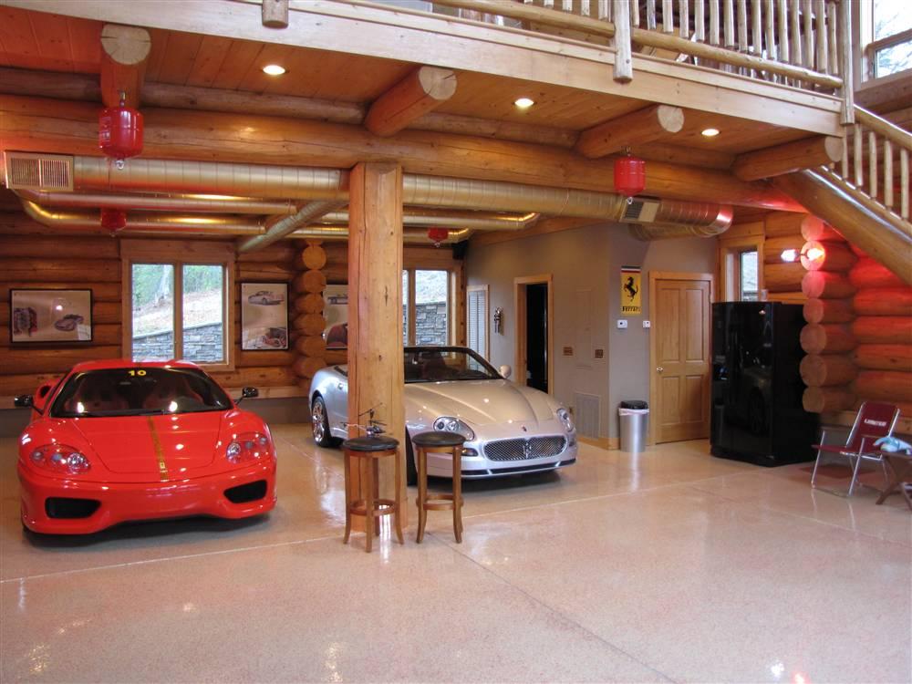 World 39 s most beautiful garages exotics insane garage for Log garages with loft
