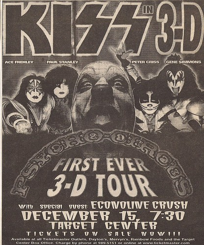 12/15/98 Kiss/Econoline Crush @ Minneapolis, MN (Ad)