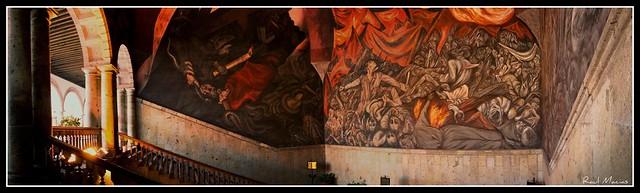 Mural jose clemente orozco palacion de gobierno for Aviso de ocasion mural guadalajara