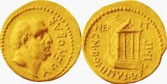 RRC 519/1 Aureus Ahenobarbus Temple