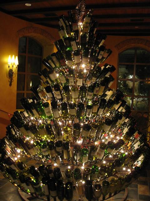 Wine Bottle Christmas Tree at Gaylord Texan, Christmas 2009