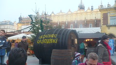 Authentic wooden barrels filled with mulled wine are in plentiful supply around the market!