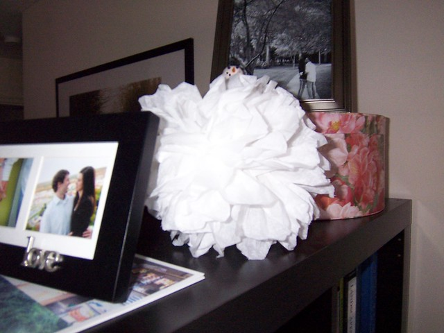 tissue paper snowball