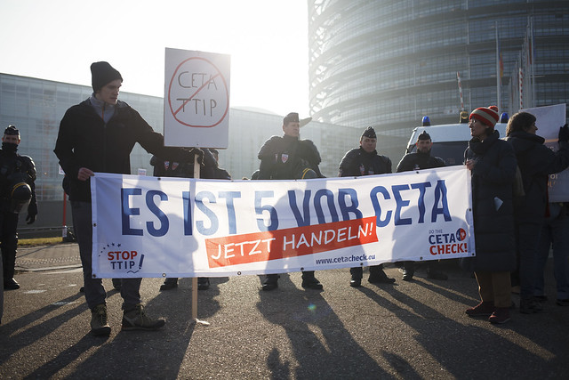 CETA Vote Action Strasbourg