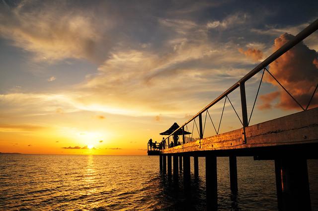 フサキビーチの夕焼け