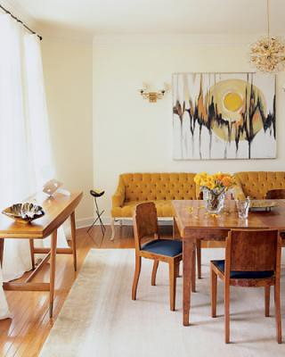 Vintage Modern Dining Room Art Deco Burl Wood Table Gio Ponti Console From