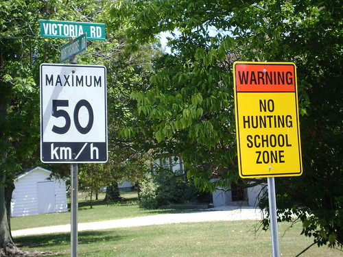 No Hunting School Zone