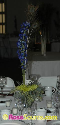 Delphinium table arrangement