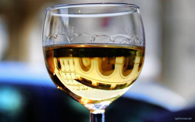 Escher Wine Glass
