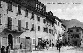 Ascoli com'era: Acquasanta, piazza delle Terme (<1925)