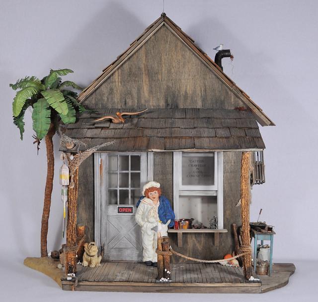 Old 1:12 Scale Sea Shack Dollhouse Miniature