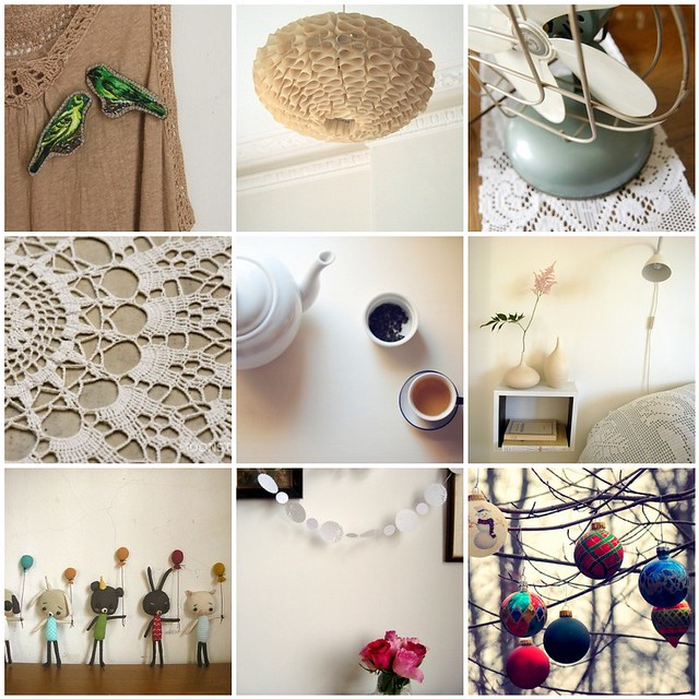 calming neutrals, Flickr mosaic curated by Emma Lamb