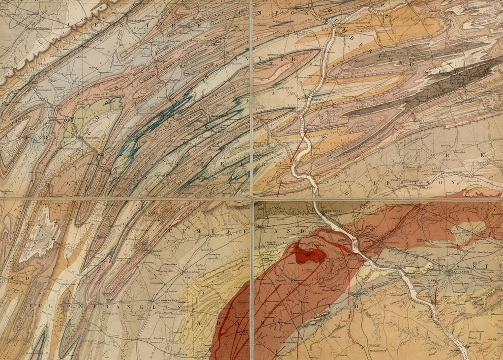 Geological Map of the State of Pennsylvania 1858 (detail)