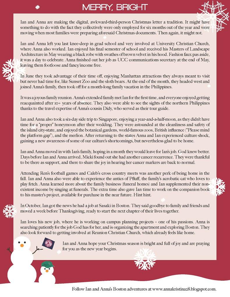 2009 Christmas Letter