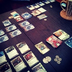 Playing Android: Netrunner. #bgg #boardgamegeek  #boardgame