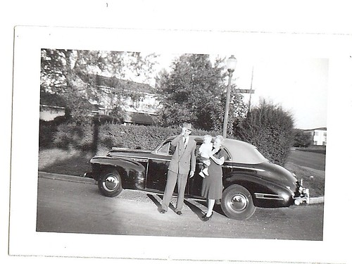 Anna Leigh's Great Great Grandparents on My Mother's Side ~ Chilton Road, probably in Houston, Texas ~ 1941 Buick