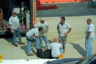 Repair team taking a break