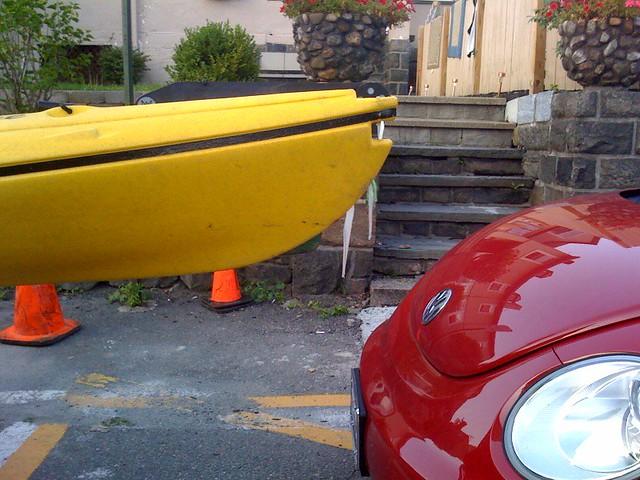 way to park, numnuts.