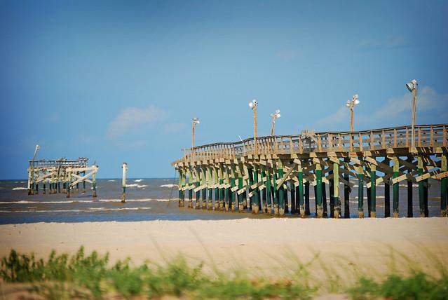 San luis pass fishing pier after hurricane ike flickr for San luis pass fishing