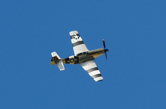 P-51 Mustang at Kelmarsh Festival of History 2009