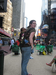 Visiting Times Square in New York
