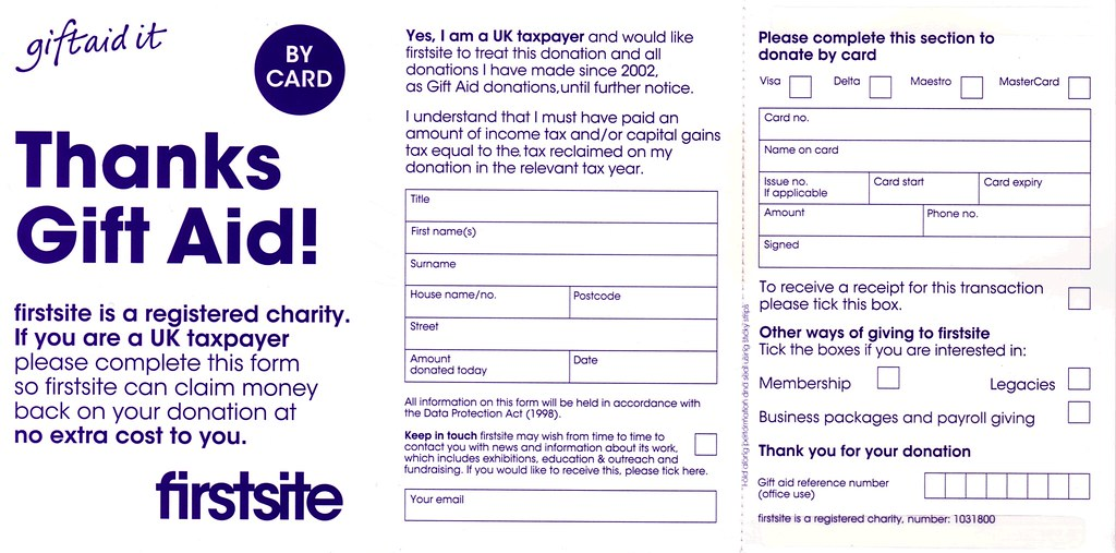Flickr photos tagged giftaid picssr gift aid form for first site colchester negle Image collections