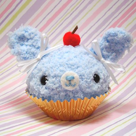 Amigurumi Cupcake Bunny : Amigurumi Blue Bunny Cupcake with cherry on top Explore ...