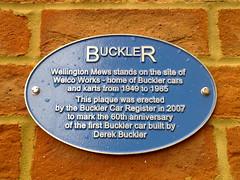 Photo of Derek Buckler blue plaque