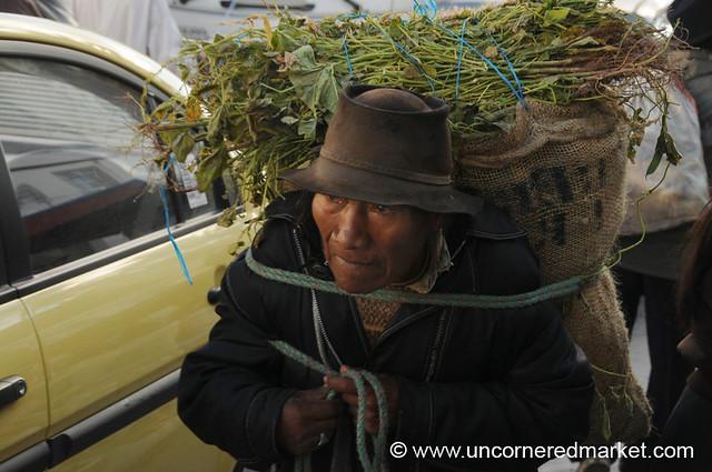 Heavy Load - Otavalo Market, Ecuador