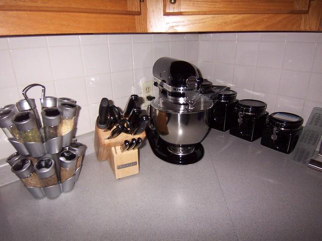 the shiny kitchenaid is home