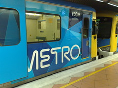 Siemens train, full Metro colours