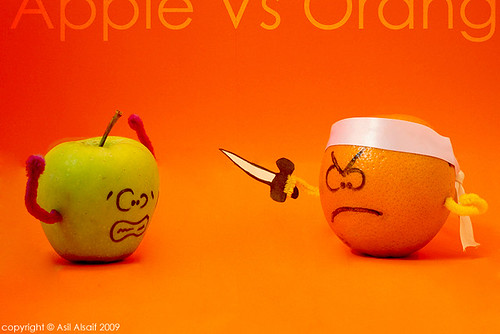 Apple VS Orang