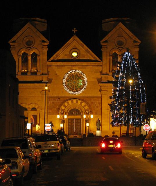 St. Francis Cathedral At Christmas Time: Santa Fe, New