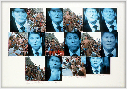 """Nudes & Blue Reagans"" about the same time 1987, u.s.a. Spring break and the Iran Contra affair by Stephen R Mingle /Gonzo®"
