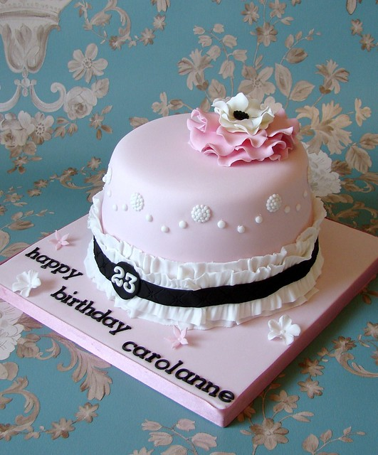 Birthday Cake Images New Style : Girly Vintage Style Birthday Cake Flickr - Photo Sharing!