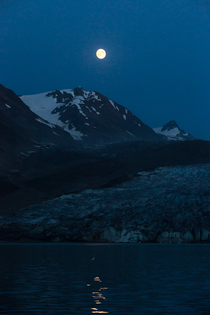 Glacier Moon Rise