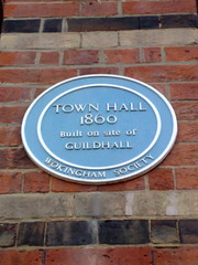 Photo of Guildhall, Wokingham and Town Hall, Wokingham blue plaque