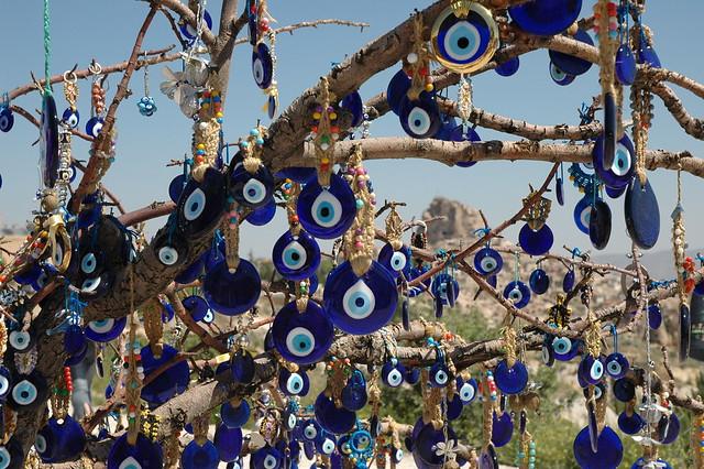 evil eye tree capadoccia turkey by cynthiagreenberg