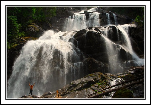 mountains nature waterfall rainforest britishcolumbia pacificnorthwest beautifulbc bcwilderness nahatlach mooswa westcoastwilderness mountainfreak laguenther grizzlefalls ©laguenther