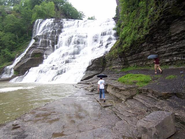 caleb & ian @ ithaca falls