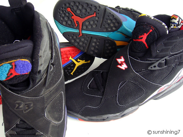 104f57bd1701 ... Sunshining7 - Nike air Jordan VIII - 1993 - Aqua + Black Red