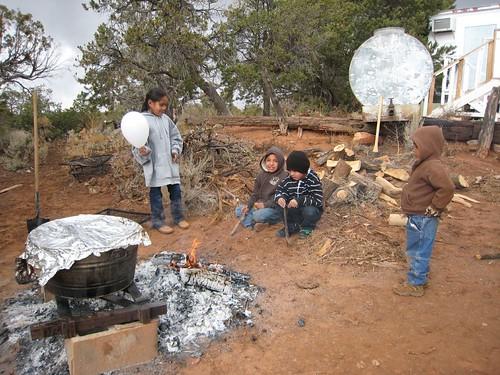 REZ, Navajo, Children fire cooking, outdoor… IMG_1165