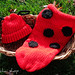 Ladybug Lady Bug Newborn Baby Knit Seed Pod Cocoon Plus Hat