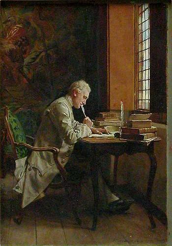 Meissonier, Ernest (1815-1891) - 1859 A Poet (Louvre, Paris)