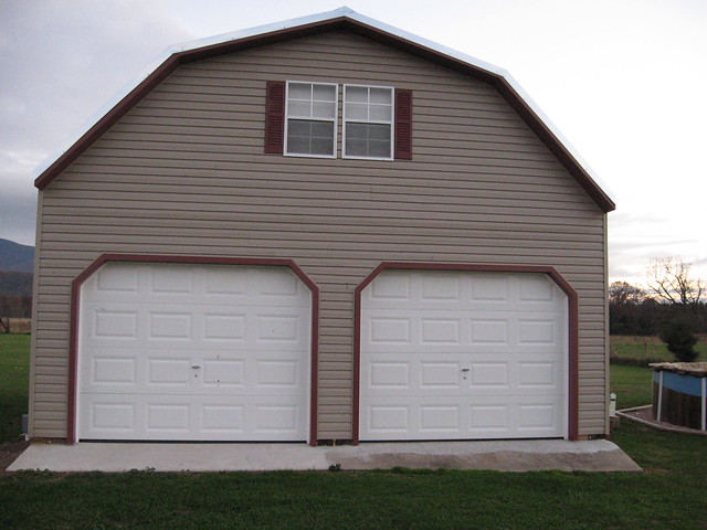 2 Story Buildings Two Story Garages Vinyl Garage