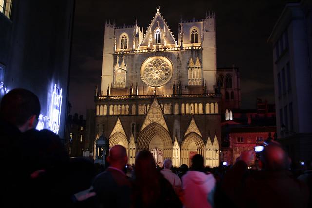 foto Cathédrale Saint Jean, Lione illuminata per la festa delle luci 2009